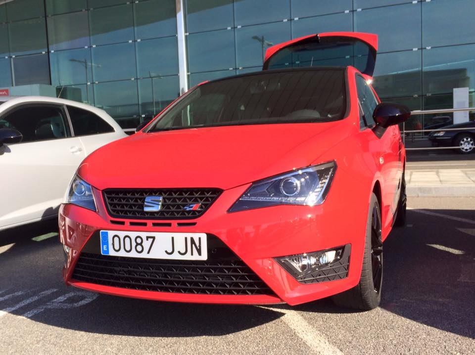Pick up of the Cupra's from Barcelona airport.