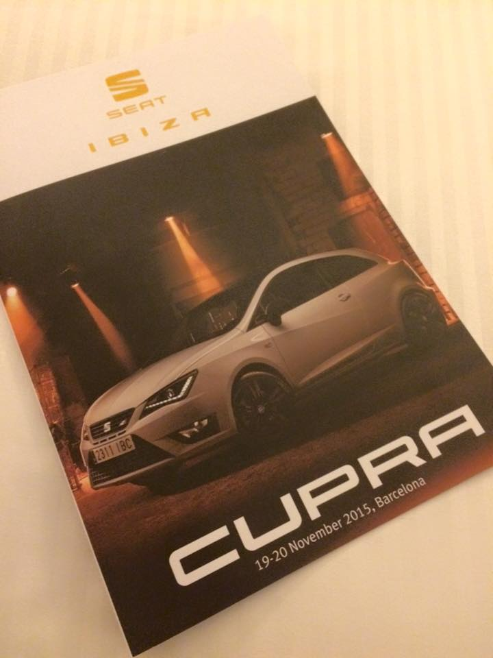Cupra - looking forward to this for the next two days
