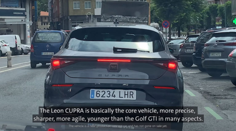 CUPRA Leon on the road