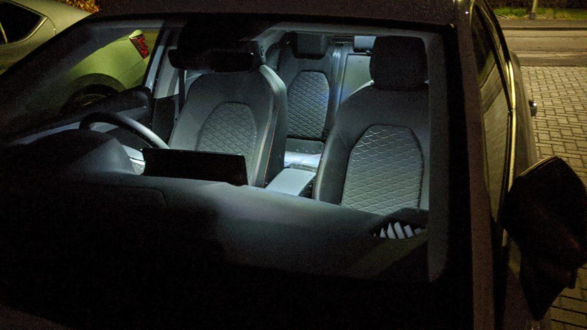 Interior lighting at night