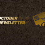 October newsletter title with a tarmac background