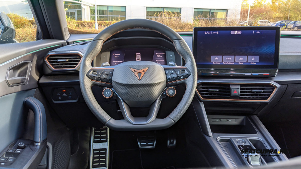 CUPRA Formentor driver's position