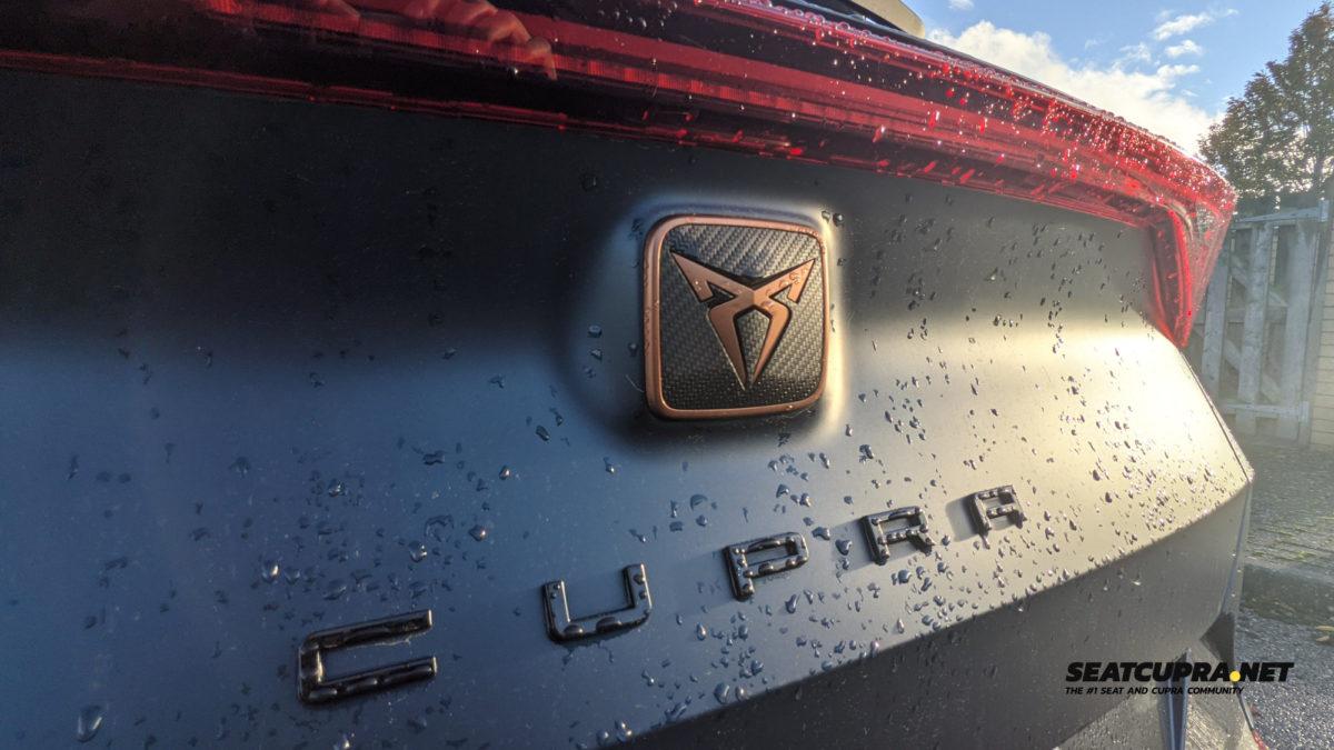 CUPRA Formentor rear badge