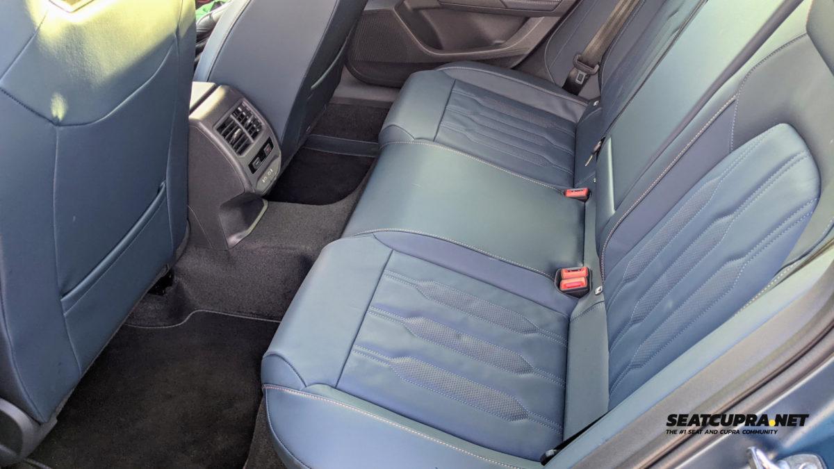 CUPRA Formentor rear seats