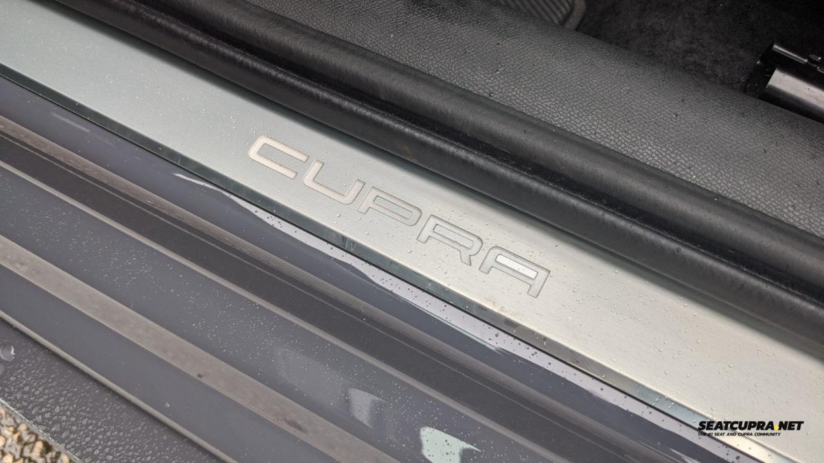 CUPRA lettering in white LED