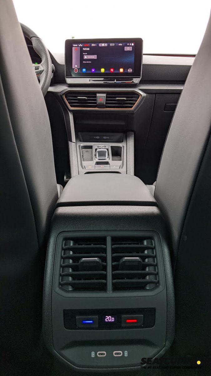 Rear climate control settings