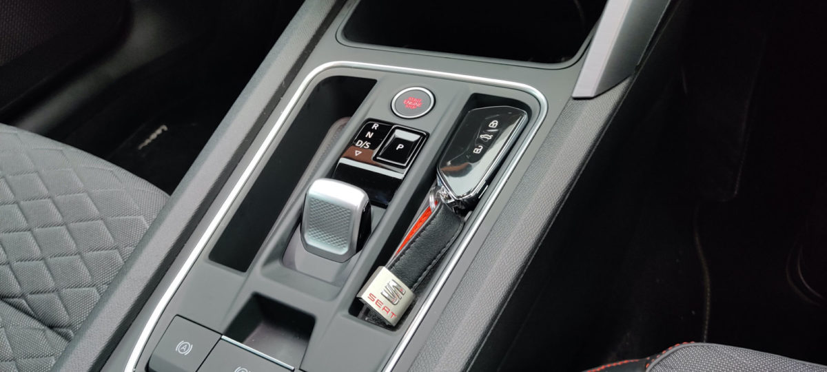 Centre console with the key in place