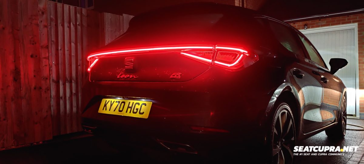 Rear of the Leon FR at night
