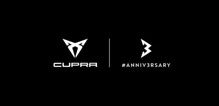 CUPRA and 3 year anniversary logo