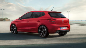 Red 2021 SEAT Ibiza face-lift