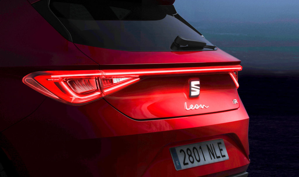 New SEAT Leon rear lights