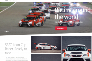 SEAT Sport Homepage