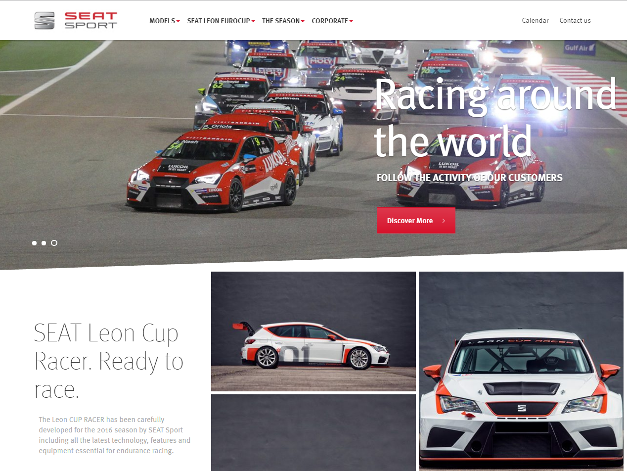 SEAT Sport Homepage